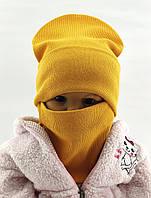Детская шапка с 48 по 56 размер трикотажная двойная детские шапки демисезонные