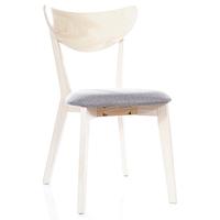 Обеденные стулья из натурального дерева Signal CD-37 с мягким сиденьем серого цвета