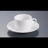 Чашка чайная с блюдцем 200мл, белый Altporcelain арт.32035