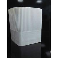 Колпак бумажный поварский 22,5 см,10 шт /уп