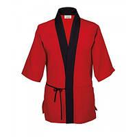 Куртка поварская мужская, рукав короткий, коттон M, L, цвет черный, красный