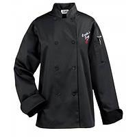 Куртка Ж поварская, рукав длинный, коттон цвет бел., черн., размер XS-2XL