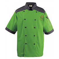 Куртка М поварская коттон XL,цвет белый, зеленый