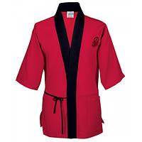 Куртка М поварская японский стиль, коттон цвет черн, красн-черн, размер XS-2XL