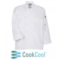 Куртка повара с сеткой, коттон цвет белый, черный, размер XS-XL