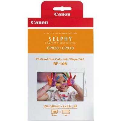 Картридж Canon RP-108 (Комплект)Тип - термосублимационный, вид - оригінальний, Колір - Black, Сolor, сумісність з пристроями бренду - Canon,