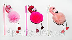Ручка Фламинго мех (ассорти) 310119-505