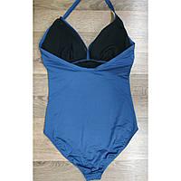 Купальник женский совместный большой размер 2xl-3xl 50 - 52 размер темно-синий на высокий рост