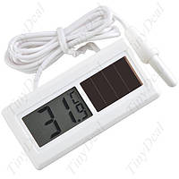 Электронный термометр датчик температуры выносной внешний на солнечной батарее зондом для бани автомобиля