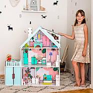 """""""Вилла София"""" Кукольный домик NestWood LOL/OMG/Барби, без мебели, МДФ, мятный, фото 9"""