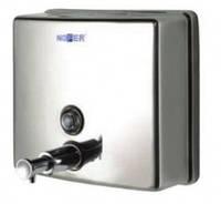 Дозатор квадратный для жидкого мыла Nofer глянцевый