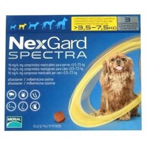 Nexgard Spectra (Нексгард Спектра) - таблетки для собак от блох и клещей S 3,5-7,5кг  3 таблетки