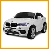 Детский двухместный ездовой электромобиль BMW Х6 (Белый)