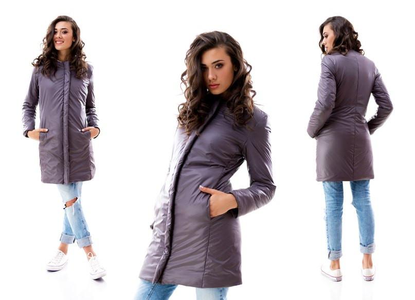 Удлиненная куртка с застежкой-планкой