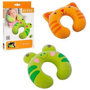 Детская надувная подушка-подголовник Intex 68678 (28*30*8 см)