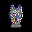 Набор для творчества Crystal art светодиодный светильник с алмазной мозаикой Волк (MI_DP05), фото 3