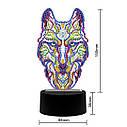Набор для творчества Crystal art светодиодный светильник с алмазной мозаикой Волк (MI_DP05), фото 7
