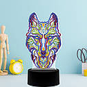 Набор для творчества Crystal art светодиодный светильник с алмазной мозаикой Волк (MI_DP05), фото 6