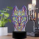 Набор для творчества Crystal art светодиодный светильник с алмазной мозаикой Волк (MI_DP05), фото 2