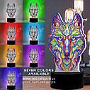 Набор для творчества Crystal art светодиодный светильник с алмазной мозаикой Волк (MI_DP05), фото 10