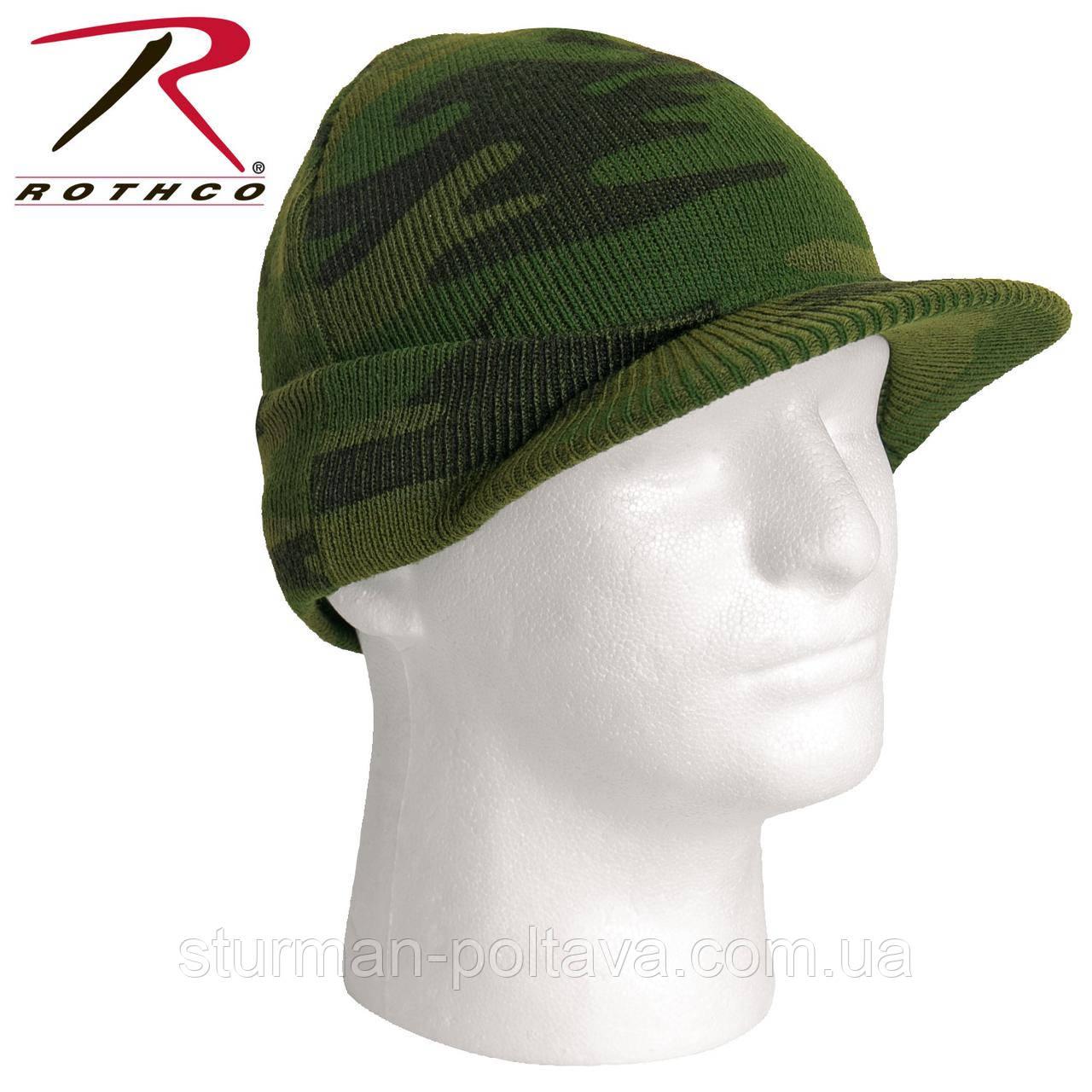 Шапка мужская   JEEP CAP  с козырьком камуфляжная акрил  ROTCHO USA