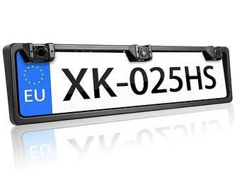Номерная рамка с парктроником 2 Sensor MD / Cистема парковки для автомобиля (Black)