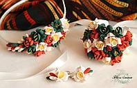 """""""Осень"""" комплект свадебных украшений, фото 1"""