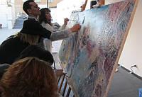 Коллективный мастер-класс по живописи или Как нарисовать картину всем коллективом?