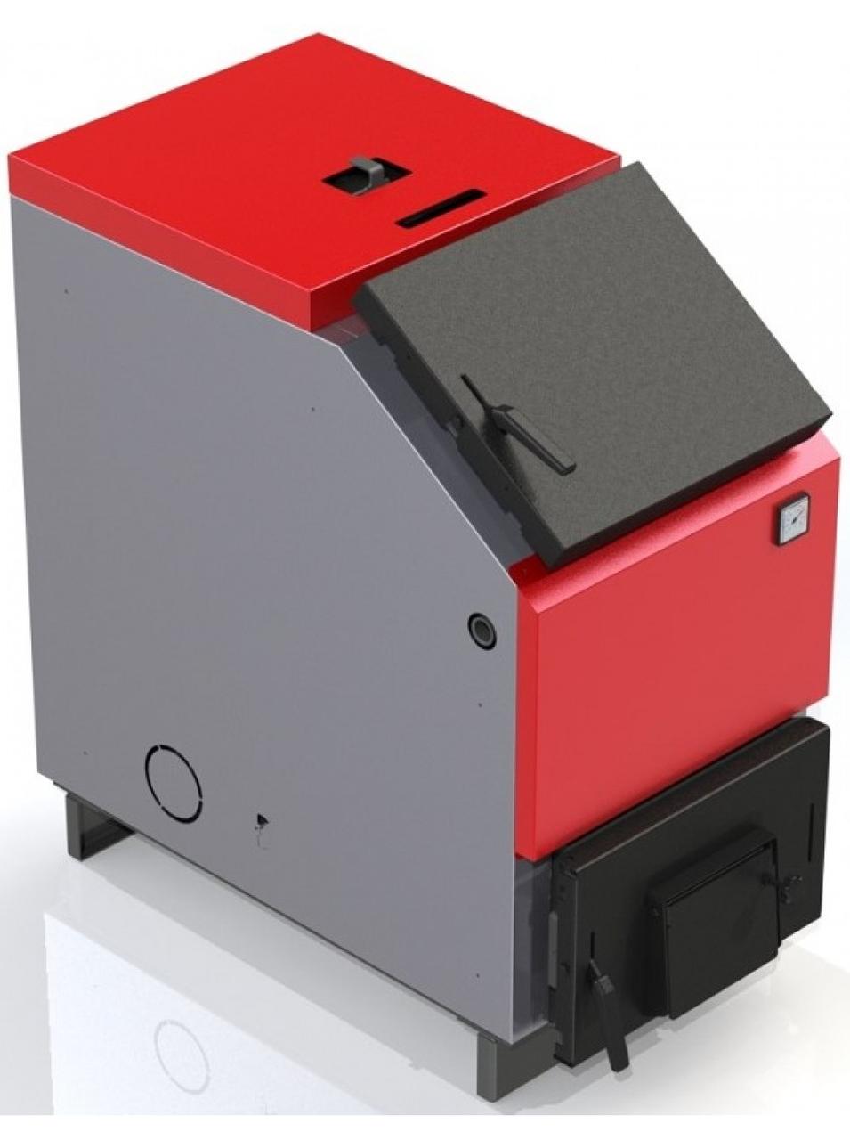 Шахтный твердотопливный котел ProTech ТТ-14 кВт ECO Long длительного нижнего горения из стали 3 мм