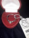 Серебрянное кольцо (помолвочное , с камнем), фото 2