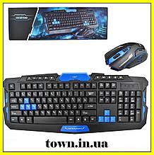 Бездротова ігрова клавіатура з мишею HK8100,Набір професійної ігрової,комп'ютерної клавіатури з мишкою