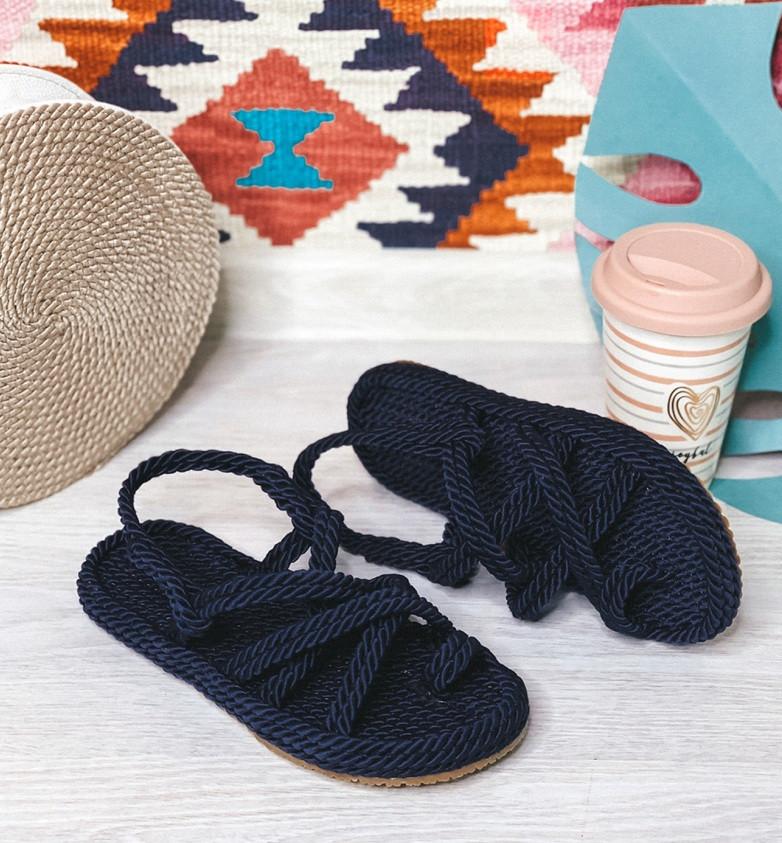 Плетеные сандалии на плоском ходу Размер 39