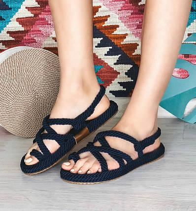 Плетеные сандалии на плоском ходу Размер 39, фото 2