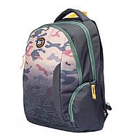 Молодежный вместительный рюкзак камуфляжный милитари (хаки)