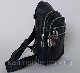 Мужская сумка слинг «Jeep» черного цвета