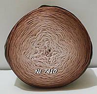 Нитки пряжа для вязания хлопковая BELLA OMBRE BATIK Белла Омбре Батик от ALIZE Ализе № 7410
