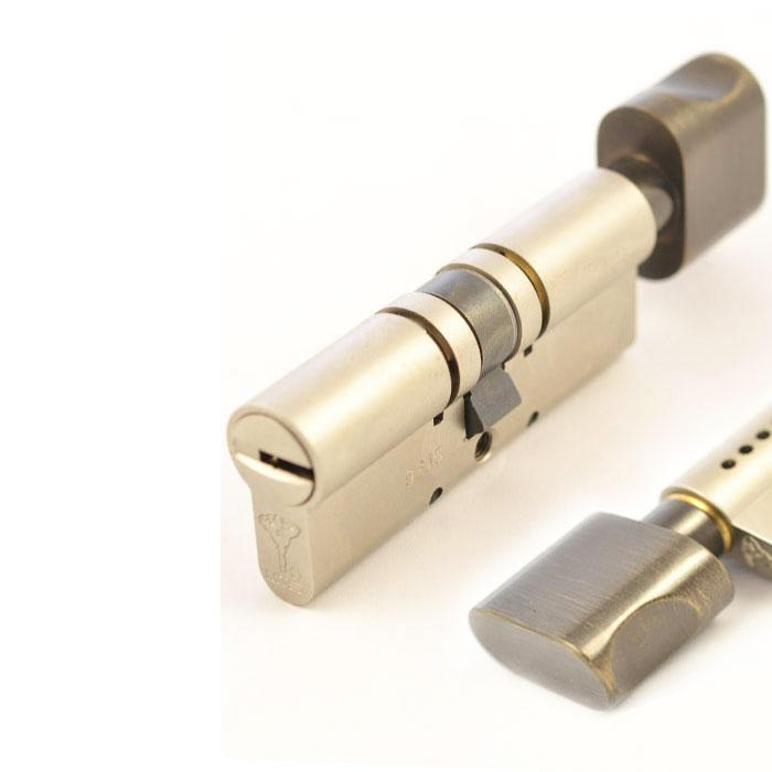 Цилиндр Mul-T-Lock MT5+ 110 мм 55/55Т с поворотником Бронза
