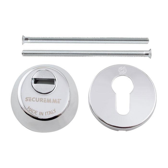 Броненакладка  под цилиндр Securemme 4255KCL14M2 хром 49869