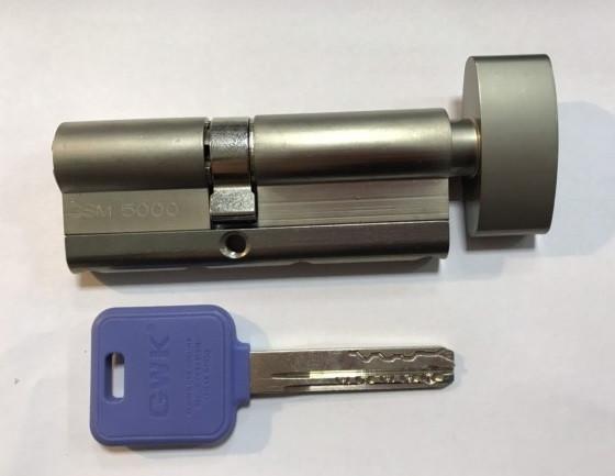 Цилиндр GWK GSM5000 M80 ZCN (40T*40) 5 ключей, с вертушкой