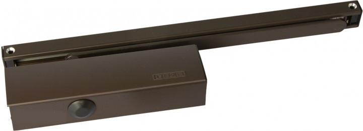 Доводчик GEZE  3000  VBC со скользящей тягой и фиксацией коричневый
