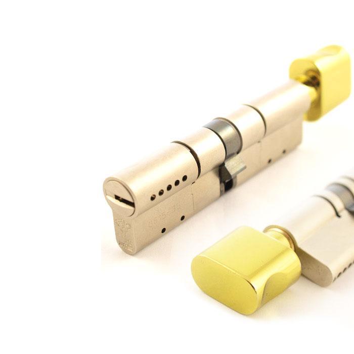 Цилиндр Mul-T-Lock MT5+ 95 мм 40/55Т с поворотником Латунь