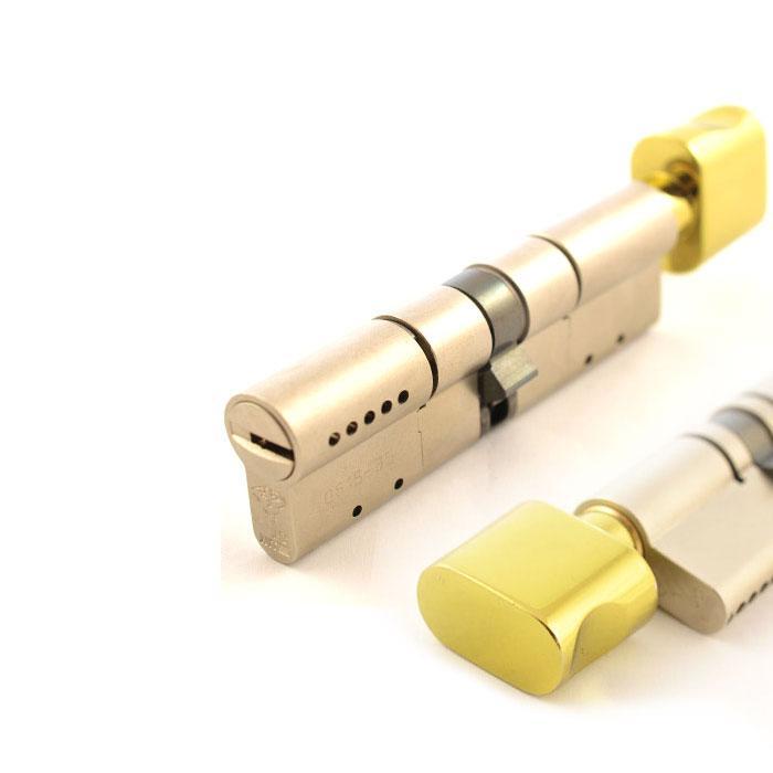 Цилиндр Mul-T-Lock MT5+ 71 мм 33/38Т с поворотником Латунь