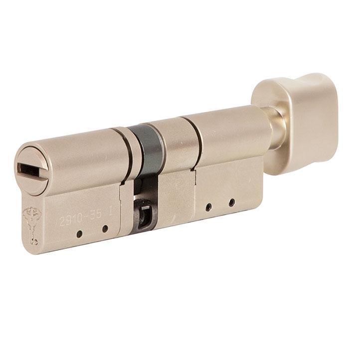 Цилиндр Mul-T-Lock MT5+ 100 мм 40/60Т с поворотником Сатин