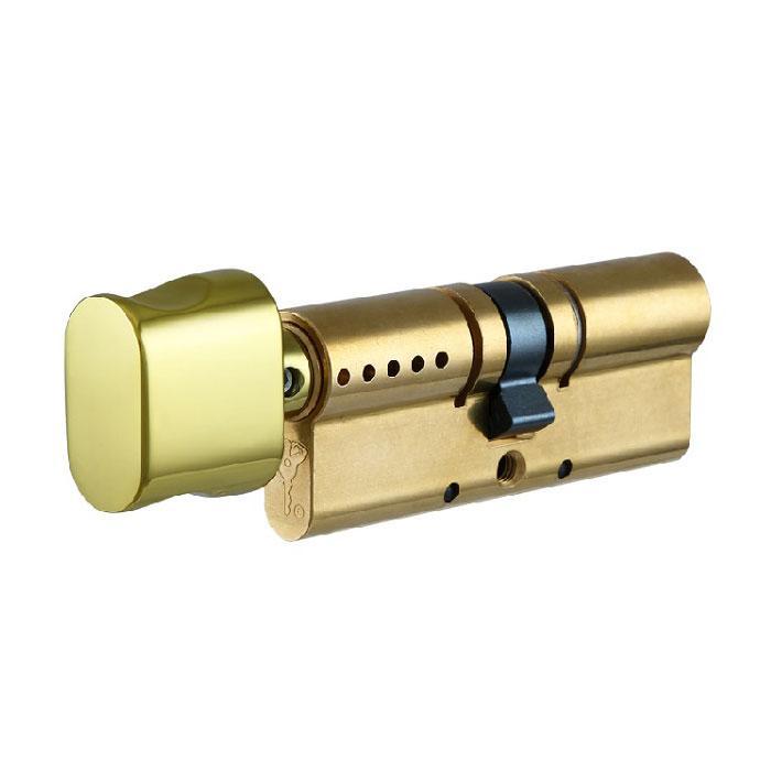 Циліндр Mul-t-Lock Interactive 100 мм 55/45Т з поворотником Латунь