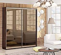 Двухдверный шкаф купе фасады зеркало бронза