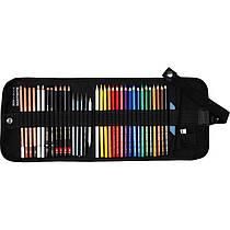 Художественный набор Koh-i-Noor 37 предметов текстильный пенал 8891/5