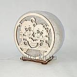 Соляной светильник круглый Мишки на лавочке, фото 3