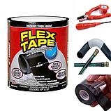 Лента скотч, водонепроницаемая усиленная клейкая лента скотч, Flex Tape 10 см, Черная, фото 5