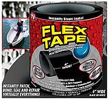 Стрічка скотч, водонепроникна посилена клейка стрічка скотч, Flex Tape 10 см, Чорна, фото 6