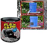 Стрічка скотч, водонепроникна посилена клейка стрічка скотч, Flex Tape 10 см, Чорна, фото 10